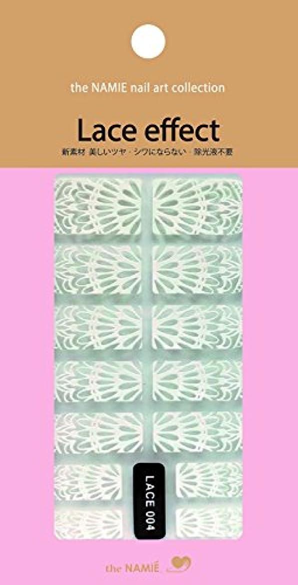 腹裸一部ナミエネイルアートコレクション レースエフェクト LACE 004 (14チップ)
