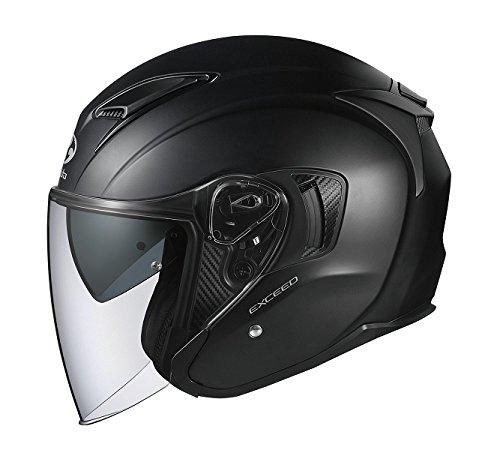 オージーケーカブト(OGK KABUTO)バイクヘルメット ジェット EXCEED フラットブラック (サイズ:XL) 577056
