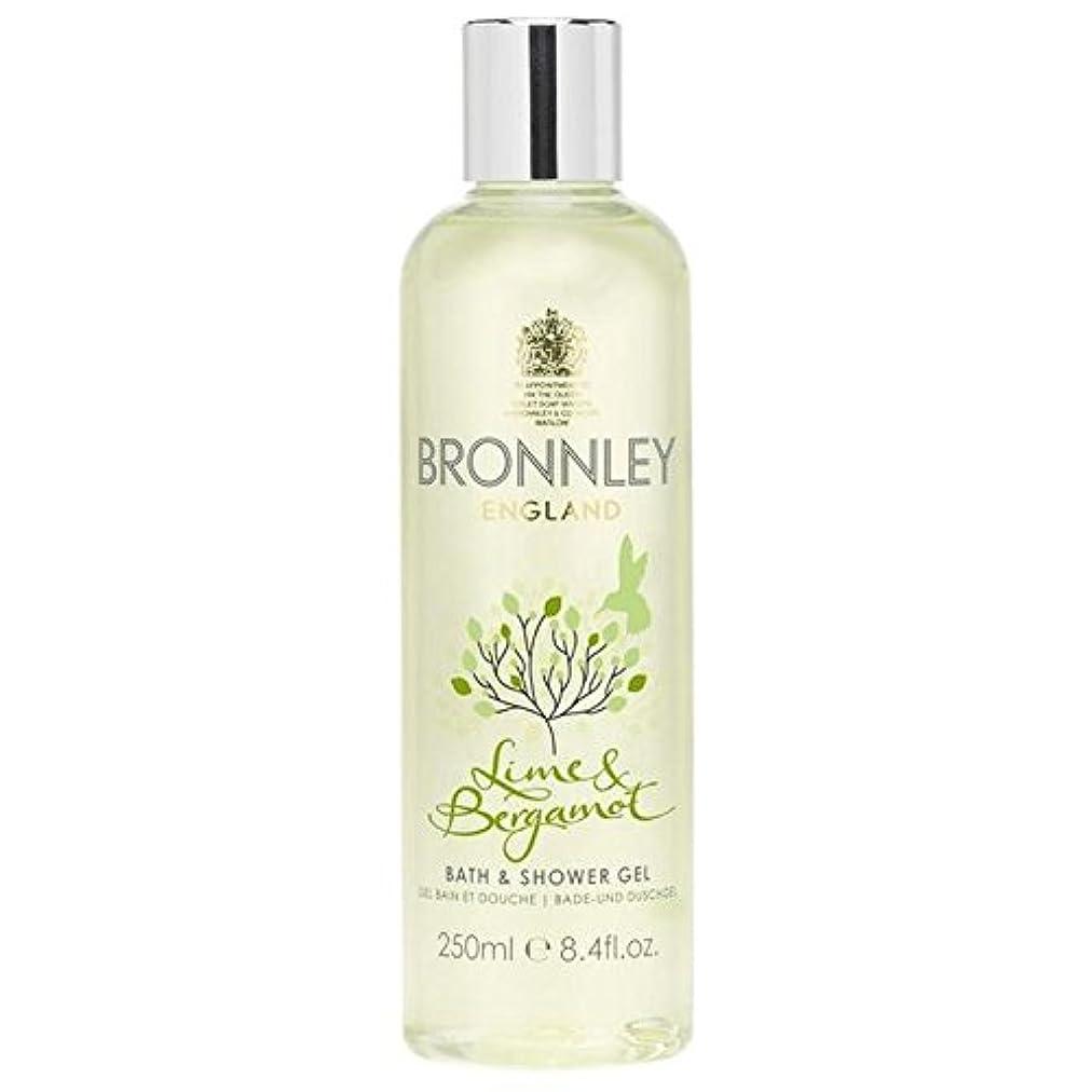 要求するぴかぴか小人ライム&ベルガモットバス&シャワージェル250ミリリットル x2 - Bronnley Lime & Bergamot Bath & Shower Gel 250ml (Pack of 2) [並行輸入品]
