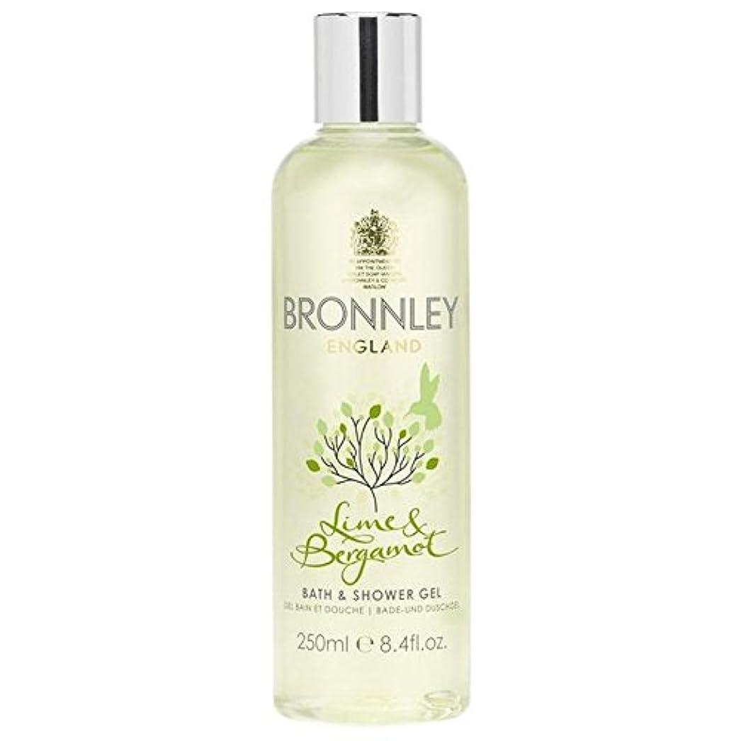 に同意する崇拝します倍増ライム&ベルガモットバス&シャワージェル250ミリリットル x4 - Bronnley Lime & Bergamot Bath & Shower Gel 250ml (Pack of 4) [並行輸入品]