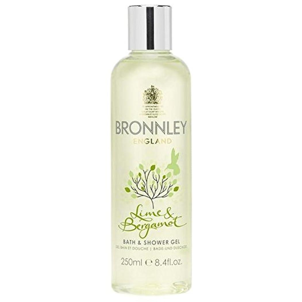 安心定数有名なライム&ベルガモットバス&シャワージェル250ミリリットル x2 - Bronnley Lime & Bergamot Bath & Shower Gel 250ml (Pack of 2) [並行輸入品]