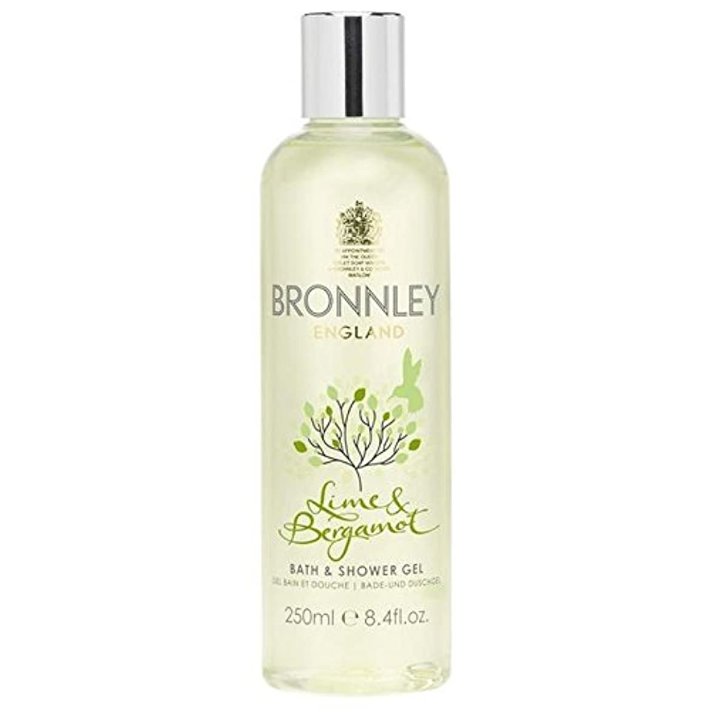コンテンツしょっぱい極めて重要なライム&ベルガモットバス&シャワージェル250ミリリットル x4 - Bronnley Lime & Bergamot Bath & Shower Gel 250ml (Pack of 4) [並行輸入品]