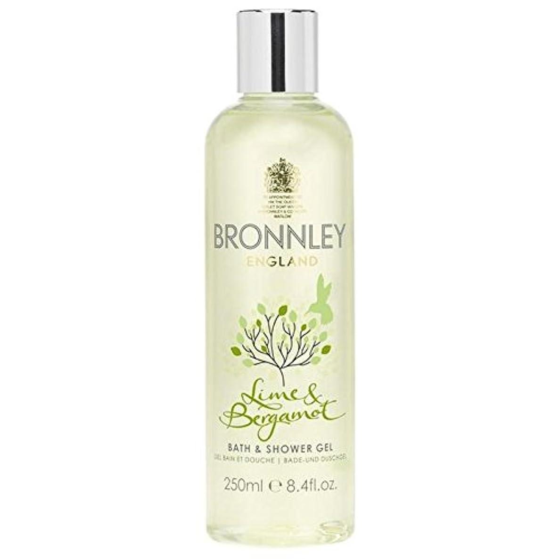 ネコアンケートタッチライム&ベルガモットバス&シャワージェル250ミリリットル x4 - Bronnley Lime & Bergamot Bath & Shower Gel 250ml (Pack of 4) [並行輸入品]