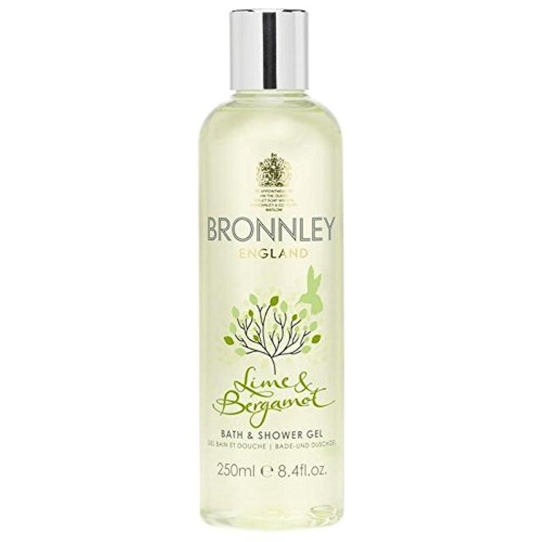 ライム&ベルガモットバス&シャワージェル250ミリリットル x4 - Bronnley Lime & Bergamot Bath & Shower Gel 250ml (Pack of 4) [並行輸入品]