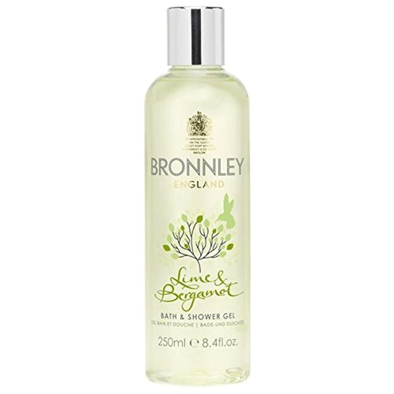パッチ継承蒸留するBronnley Lime & Bergamot Bath & Shower Gel 250ml - ライム&ベルガモットバス&シャワージェル250ミリリットル [並行輸入品]