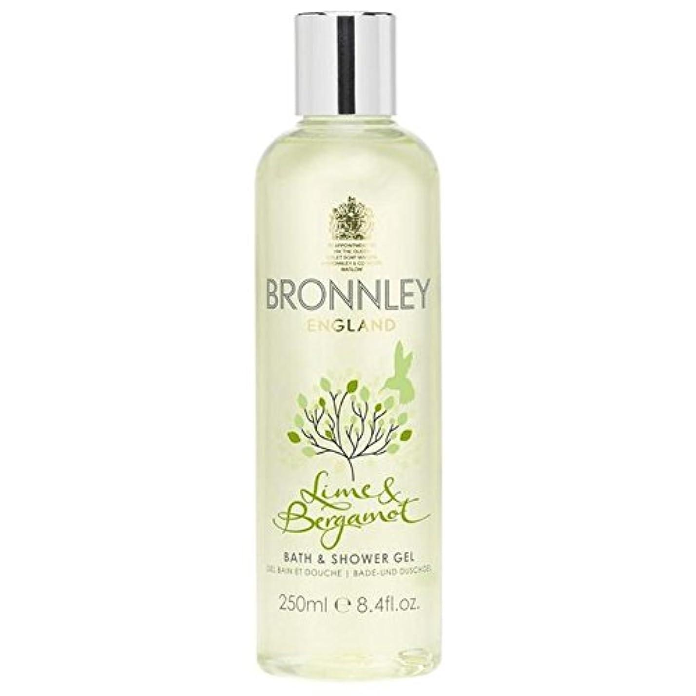 神経衰弱愛国的な湾ライム&ベルガモットバス&シャワージェル250ミリリットル x4 - Bronnley Lime & Bergamot Bath & Shower Gel 250ml (Pack of 4) [並行輸入品]