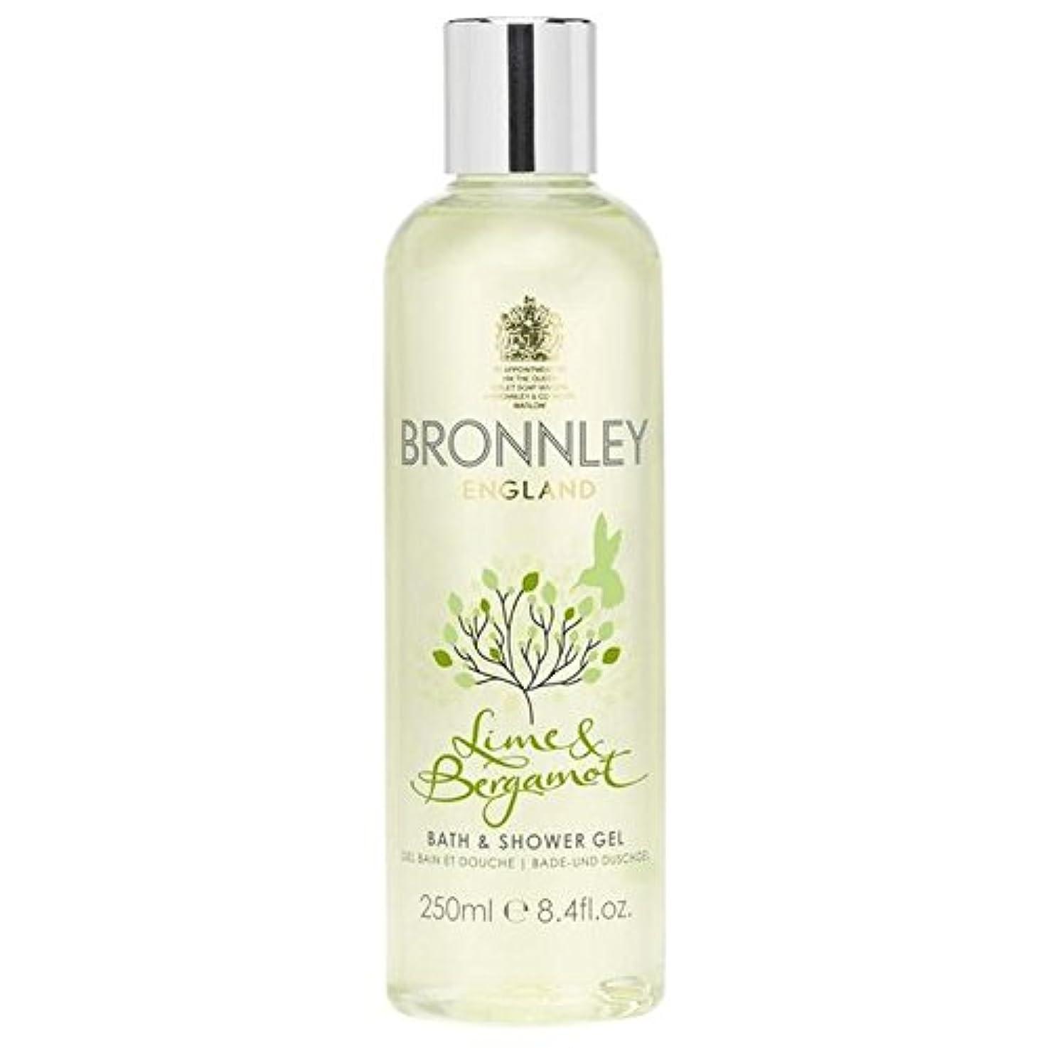 スカルク誘発するファンBronnley Lime & Bergamot Bath & Shower Gel 250ml - ライム&ベルガモットバス&シャワージェル250ミリリットル [並行輸入品]