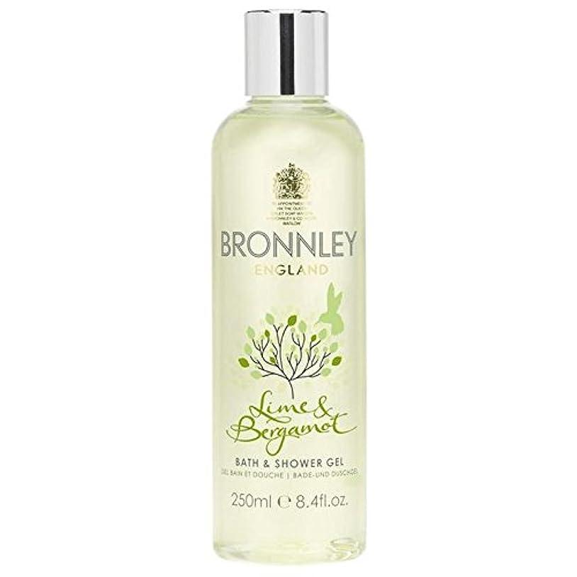 誤って道を作る縫い目Bronnley Lime & Bergamot Bath & Shower Gel 250ml (Pack of 6) - ライム&ベルガモットバス&シャワージェル250ミリリットル x6 [並行輸入品]