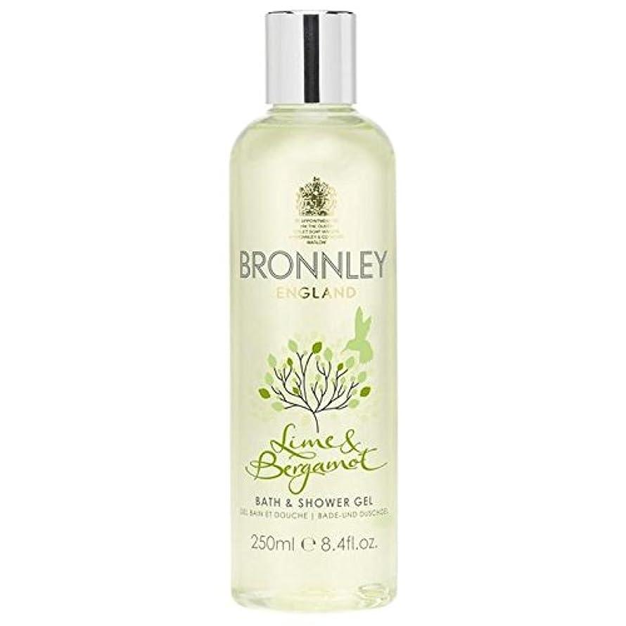 かび臭い港とBronnley Lime & Bergamot Bath & Shower Gel 250ml (Pack of 6) - ライム&ベルガモットバス&シャワージェル250ミリリットル x6 [並行輸入品]