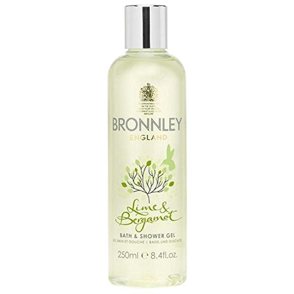 瞑想天窓ベリーBronnley Lime & Bergamot Bath & Shower Gel 250ml - ライム&ベルガモットバス&シャワージェル250ミリリットル [並行輸入品]