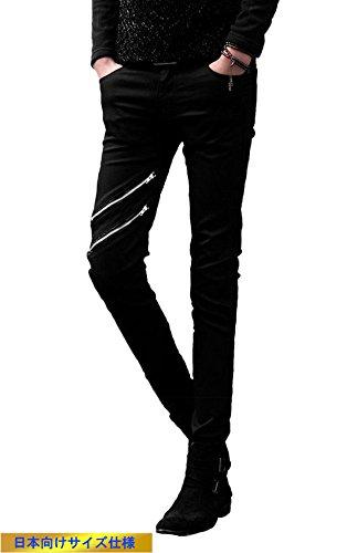 (SGL Collection) デニム パンツ メンズ デザイン 2連 ジップ・・・