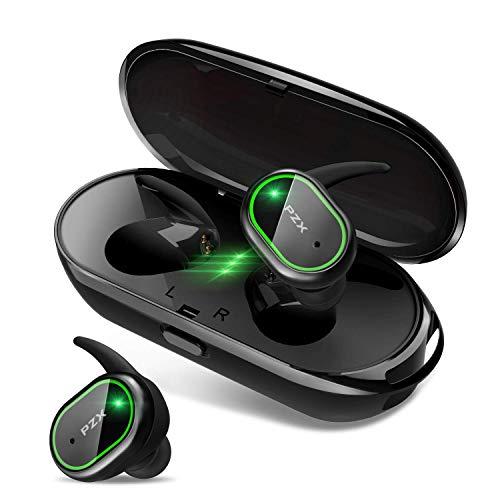 【2019進化版 Bluetooth5.0 HiFi高音質】Bluetooth イヤホン 自動ペアリング 完全ワイヤレス イヤホン 両耳 左右分離型 IPX6防水 軽量 ブルートゥース イヤホン マイク付き タッチ式 Siri対応 ノイズキャンセリング&AAC対応 技適認証済 日本語音声提示 iPhone/iPad/Android対応 PZX (green)