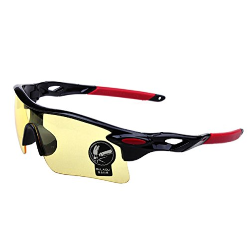 Idealhere サングラス/メガネ おしゃれ 防弾 防風 レンズ 軽量 自転車 ドライブ ゴルフ ランニング 釣り スキー に 大人気(07)