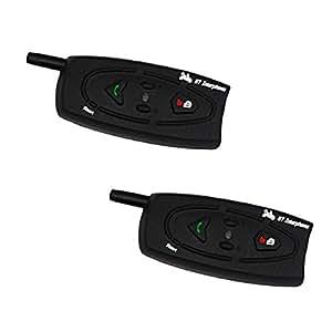 バイクインカム 2個セット 1000M bluetooth ノイズキャンセル USB ペアリング スピーカー 防水 無線 BT