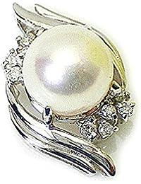 J-Jewelry プラチナ アコヤ9mm本真珠 パール ダイヤモンド ペンダント トップ