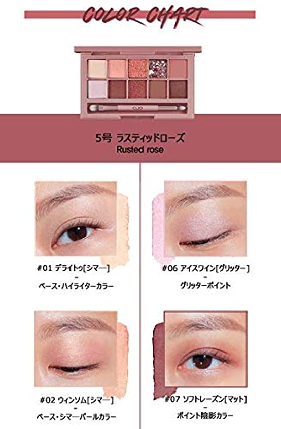 サンダー注文不実クリオ[CLIO] Pro Layering Eye Palette N05 さびたバラ (0.6gx10色) / Pro Layering Eye Palette N05 Rusted Rose