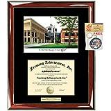 ST CLOUD STATE大学卒業証書フレームリトグラフSCSU Degree College Framing卒業式証明書Plaque SingleブラックMatted大学卒業証書フレーム