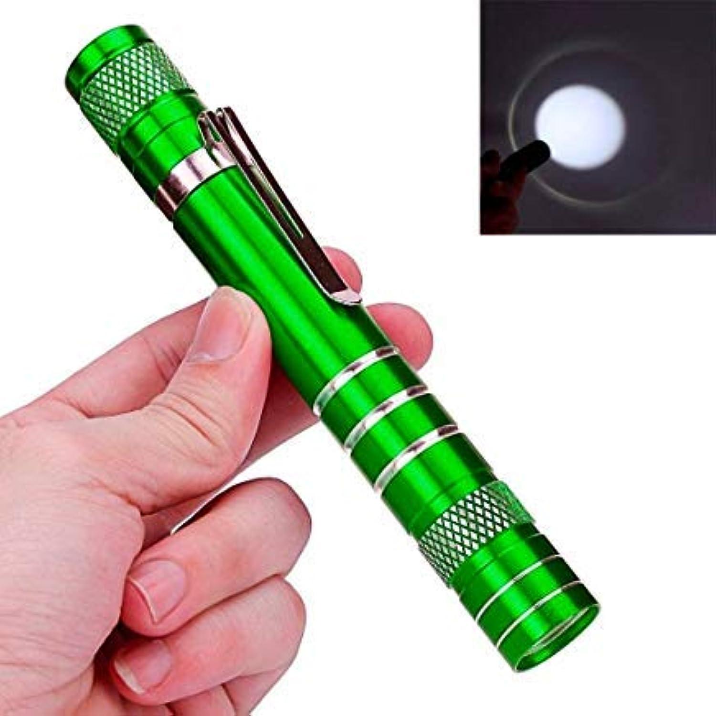 fenging3 ハンドヘルド懐中電灯 ?、高輝度LED 強光ズームライト 軍事用 強力 防災 防犯 キャンプ アウトドア 夜釣りライト 対応電池18650電池1本或は単4電池3本(電池付属なし) ミニ1200LMハイパワートーチクリークQ5 LED戦術的な緑のAAランプライト