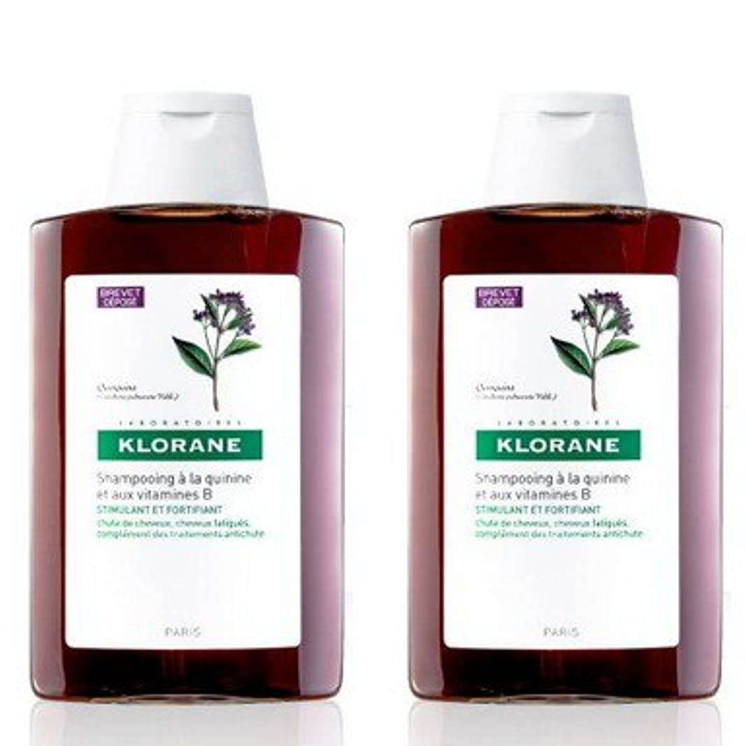 【KLORANE(クロラン)】キニン ビタミンBシャンプー 400ml ×2本 セット [並行輸入品]