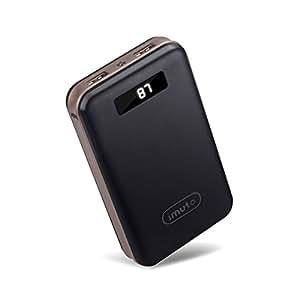 iMuto 20000mAh モバイルバッテリー 大容量 急速充電 2USB出力ポート スマートデジタルスクリーン LED ライト搭載 Nintendo Switch NS ゲーム機 /iPhone X 10 8 7 6 Plus/ iPad / Xperia / Galaxy Note8/各種スマホ / タブレット/ Wi-Fiルータ 等対応 ブラック