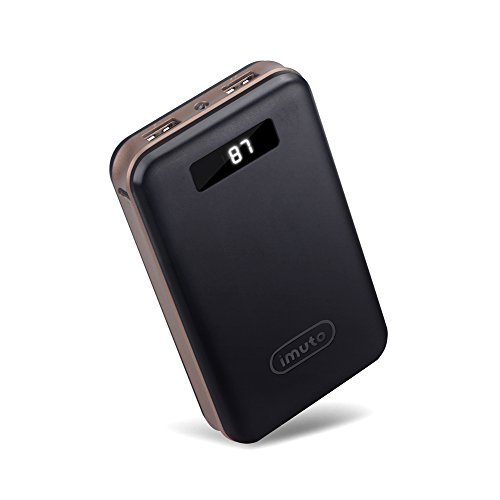 iMuto 20000mAh モバイルバッテリー 大容量 急速充電 2USB出力ポート スマートデジ...