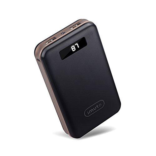 iMuto 20000mAh モバイルバッテリー 大容量 急速充電 2USB出力ポート スマートデジタルスクリーン LED ライト搭載 Nintendo Switch NS ゲーム機 /iPhone X 10 8 7 6 Plus/ iPad / Xperia / Galaxy Note8/各種スマホ / タブレット/ Wi-Fiルータ 等対応 ブラック -