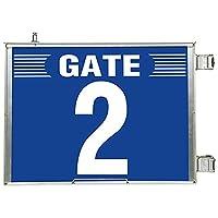 【305-82】突出し式ゲート標識 GATE2セット