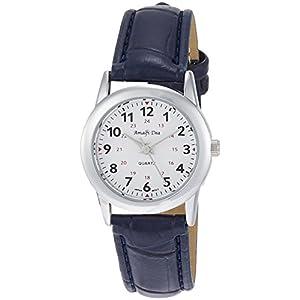 [アリアス]ALIAS 腕時計 アナログ アマルフィ 3気圧防水 革ベルト ブルー A34L27 レディース