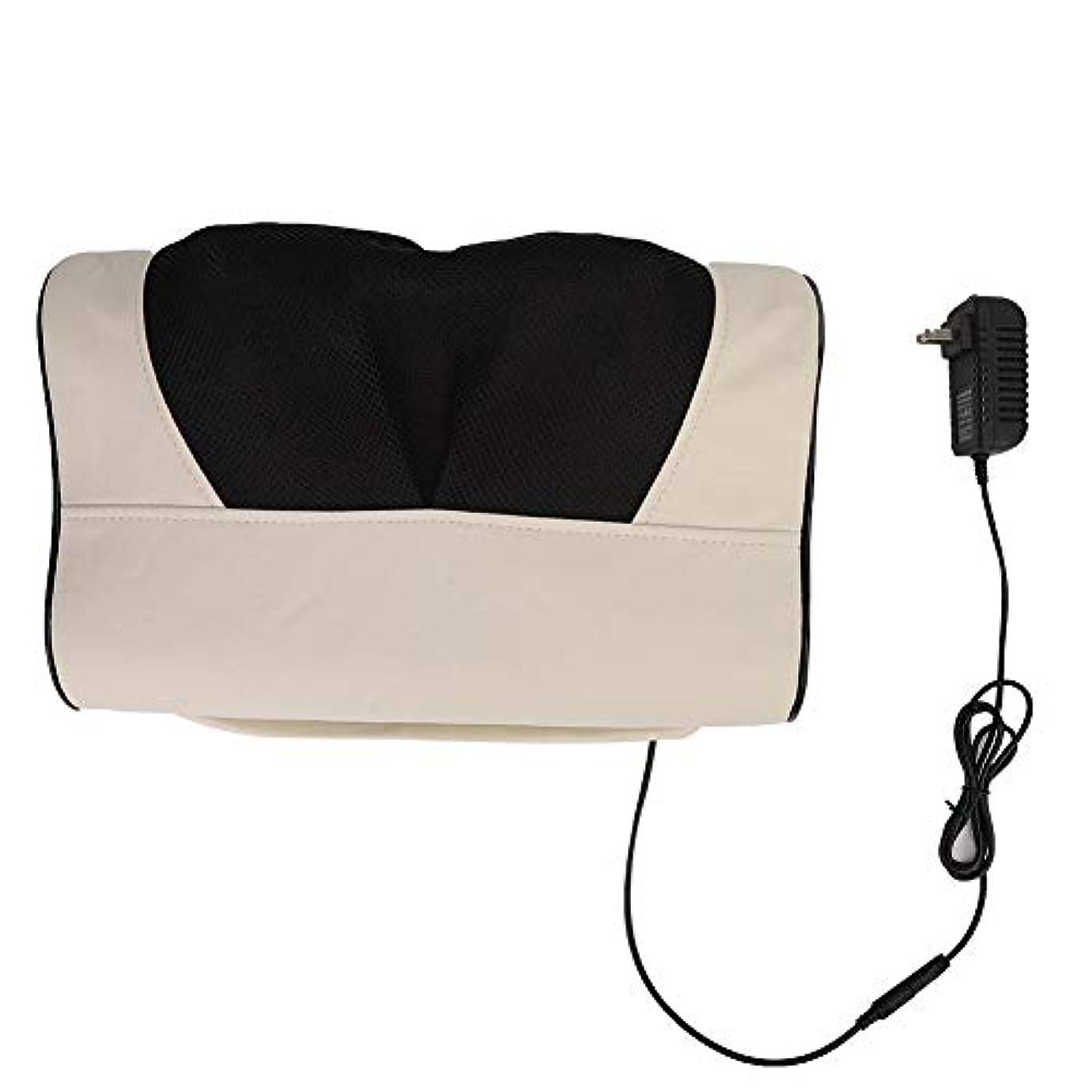 一回銀行解決マッサージ枕、多機能頸椎ネックショルダーマッサージャー電動マッサージ枕