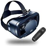 HONGLI VR ゴーグル Bluetoothリモコン付属 3D VR メガネ ヘッドマウント 3D メガネ スマトゴーグル 仮想現実 超3D映像効果 (iPhone Samsung Galaxy Note HTC HUAWEIなど5~7.0インチ