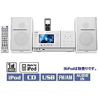 JVCケンウッド ビクター iPod対応&ワンセグ対応オーディオシステム ホワイト NX-TC3-W