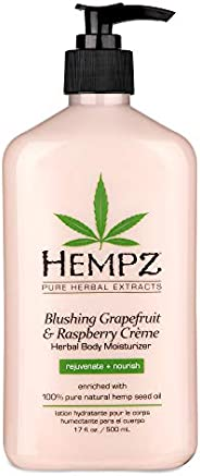 Hempz Grapefruit and Raspberry Crème Herbal Body Moisturizer, 500 ml