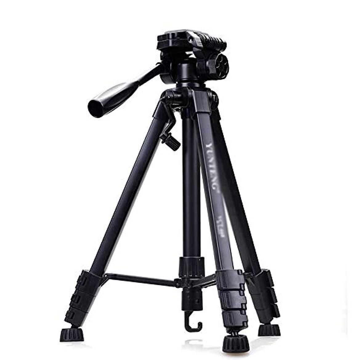 タヒチ疑い者うぬぼれた三脚 モバイルデジタル一眼レフカメラの旅行に適したポータブル三脚、三脚旅行アウトドアコンパクトマグネシウムのカメラ三脚一脚、 ポータブル三脚 (Color : Black, Size : One size)