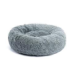 PAWZ Road 犬ベッド ペットベッド 猫ベッド カバー取り外し可能 大型 大きい 四季通用 ふわふわ 丸い グレー M