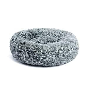PAWZ Road 犬ベッド ペットベッド 猫ベッド カバー取り外し可能 圧縮パック 大型 大きい 四季通用 ふわふわ 丸い グレー M