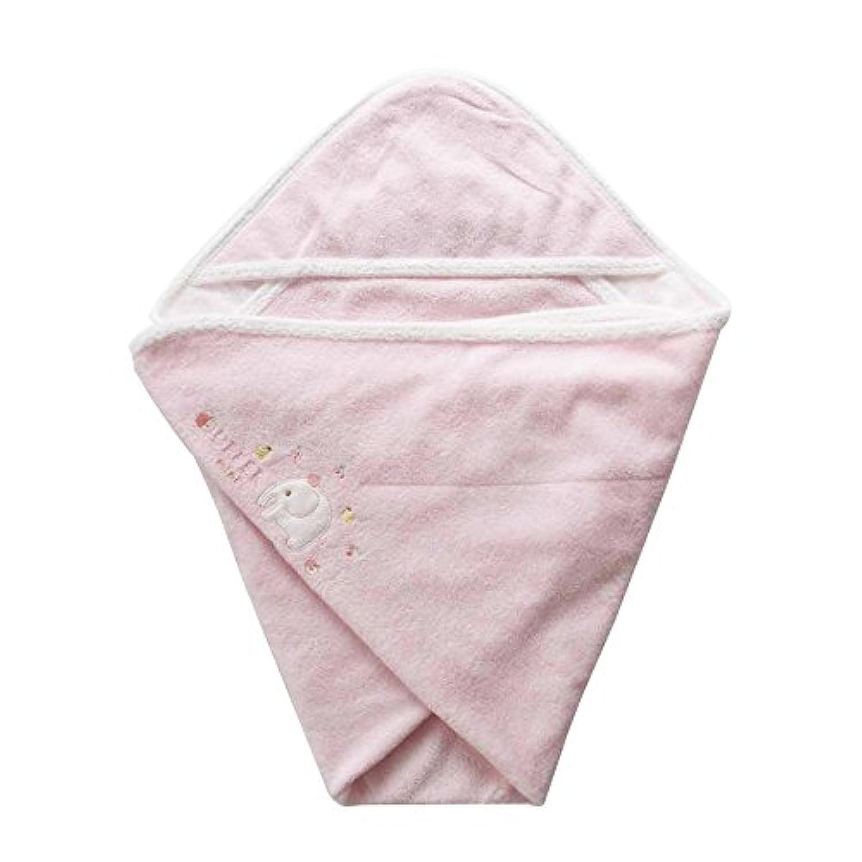 ふわふわ甘撚(あまよ)りパイルのベビーアフガン おくるみ ピンク