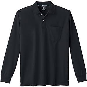 XEBEC ジーベック 長袖ポロシャツ 6035 90 クロ L