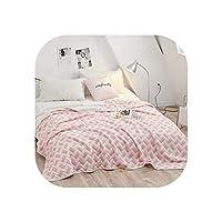新しい高級綿の夏のキルトツインフル女王王の毛布ストライプベッドカバー子供大人白灰色の柔らかい掛け布団を羽毛布団、1個の200x230cm、style3