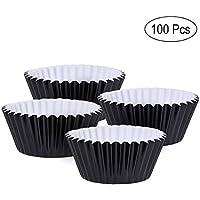 ROSENICE ベーキングカップ タルト型 ミニ マフィンカップ ケーキカップ 7cm 100個セット 食べきりサイズ アルミ DIY製菓用品