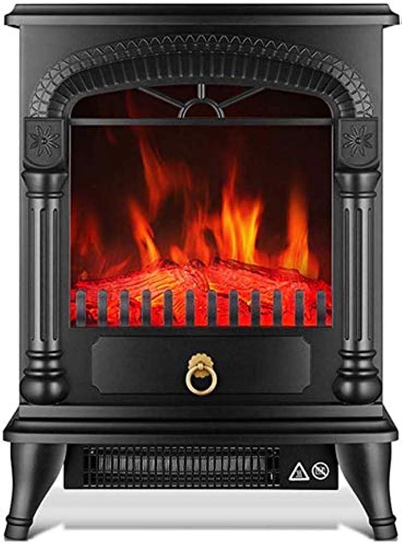 ライトニング傾斜気取らない現実的な火炎エフェクト/調節可能なサーモスタット/過熱保護/ 1000W-2000 Wポータブル電気ストーブヒーター