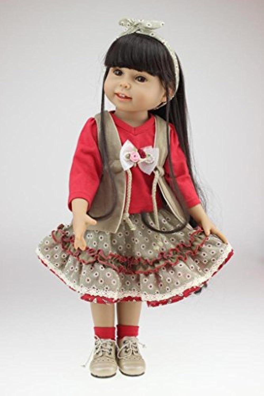 Nicery 人形 Babyラブリーガール玩具人形高ソフビ18インチ45センチメートルリアルな可動プリンセス赤いドレススマイル Reborn Dolls JP