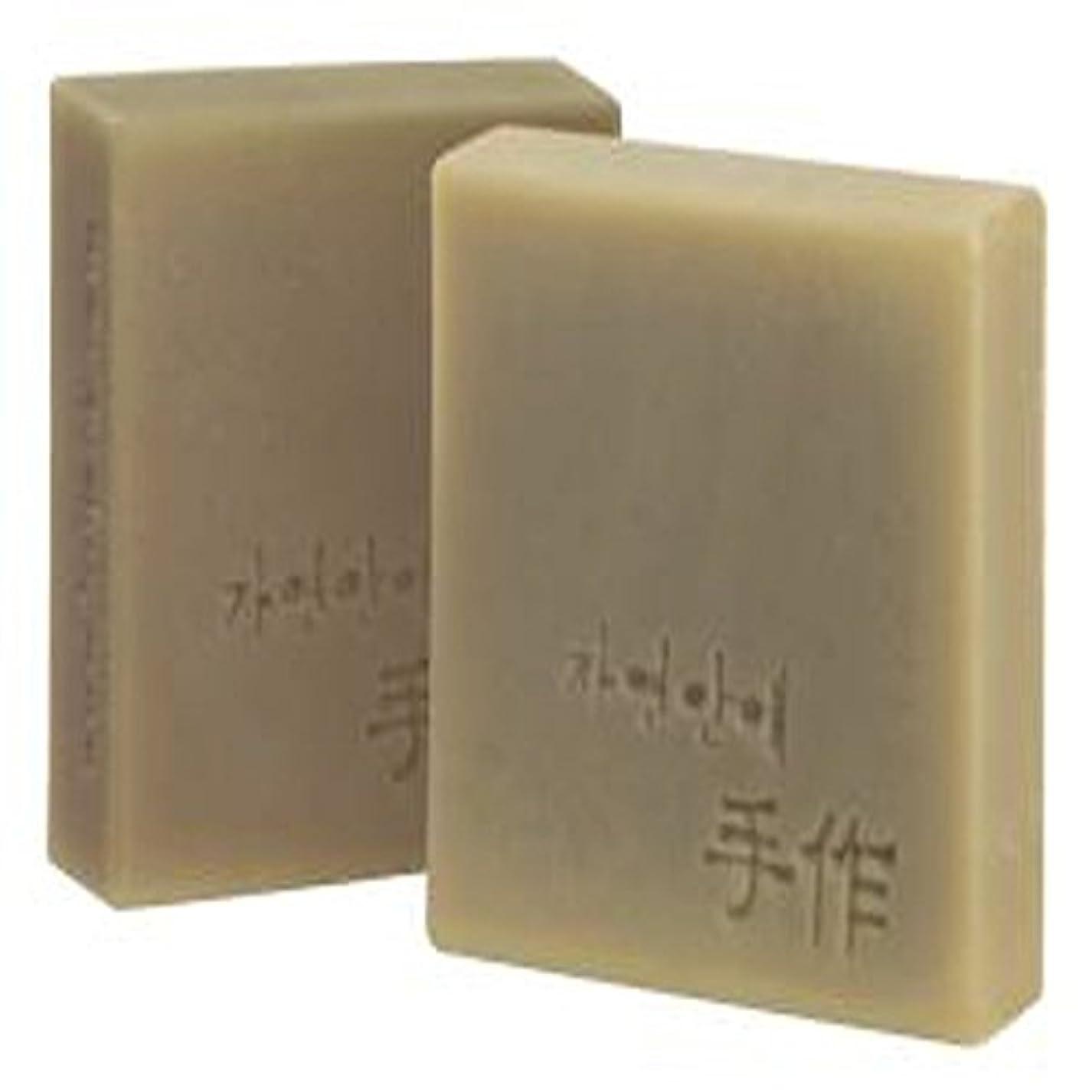 猛烈なびっくりするブランクNatural organic 有機天然ソープ 固形 無添加 洗顔せっけんクレンジング 石鹸 [並行輸入品] (清州)