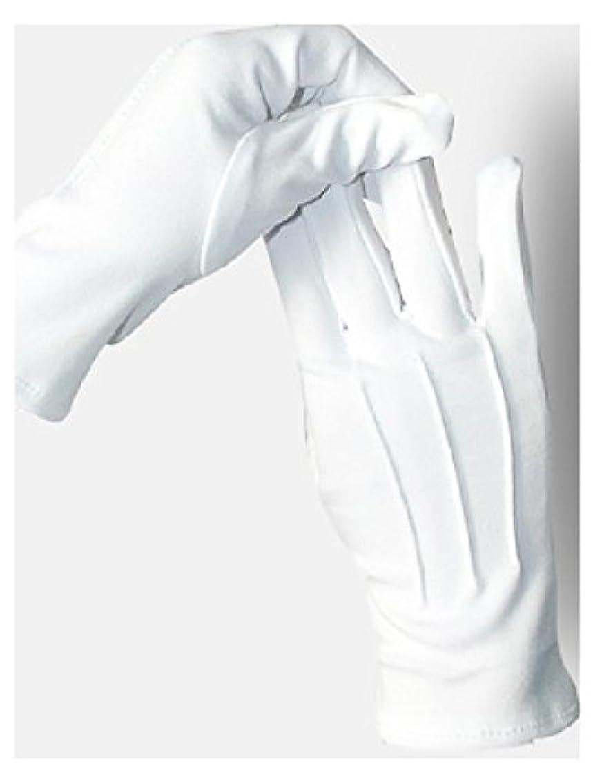 劇作家突進流出5双セット ナイロン 手袋 白 婦人 紳士 水洗い可 スリット無し (紳士)