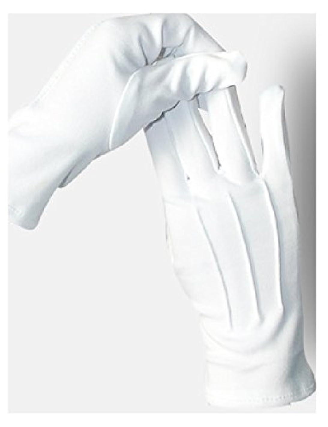 オーガニックいろいろ背景5双セット ナイロン 手袋 白 婦人 紳士 水洗い可 スリット無し (紳士)