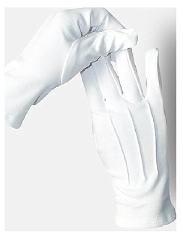 退屈なリズム固める5双セット ナイロン 手袋 白 婦人 紳士 水洗い可 スリット無し (紳士)