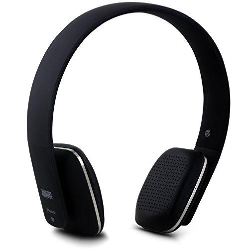 August EP636 ワイヤレスヘッドホン Bluetooth&NFC&マイク搭載 ハンズフリー通話 音楽再生 (ブラック)