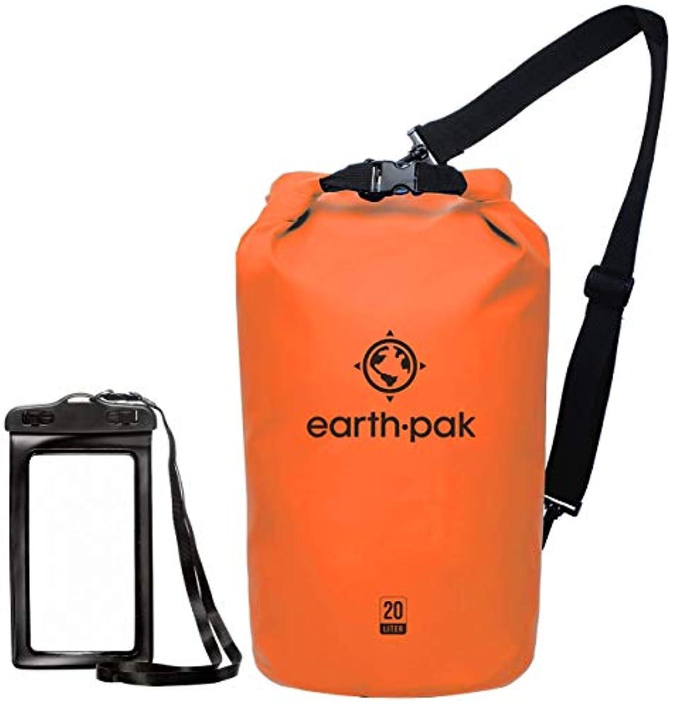 衝突コース終了するどちらかEarth Pak -Waterproof Dry Bag - Roll Top Dry Compression Sack Keeps Gear Dry for Kayaking, Beach, Rafting, Boating, Hiking, Camping and Fishing with Waterproof Phone Case [並行輸入品]
