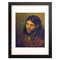 レンブラント・ファン・レイン Rembrandt Harmenszoon van Rijn 「The head of Christ.」 額装アート作品
