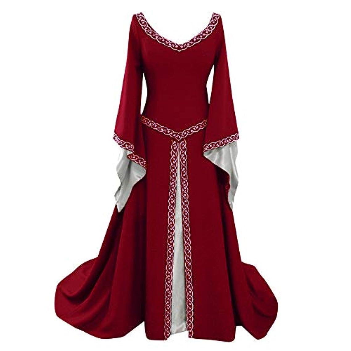 子一人でスコアドレス レディース 宮廷服 Huliyun ステージ衣装 お姫様 きれいめ 演劇 宮廷衣装 中世ヨーロッパ ワンピース 長袖 貴族 ドレス パーティー 大人用 レディース メイド 洋服 ロリータ ワンピース