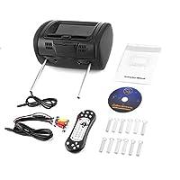 """Holarosies for ユニバーサル7""""ヘッドレストカーDVDプレーヤーブラックカーDVD/USB/HDMIカーヘッドレストモニターゲームディスク内蔵スピーカー"""
